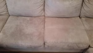 How to clean a microfiber sofa in seconds