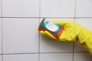 Clever way to keep bathroom tiles sparkling clean