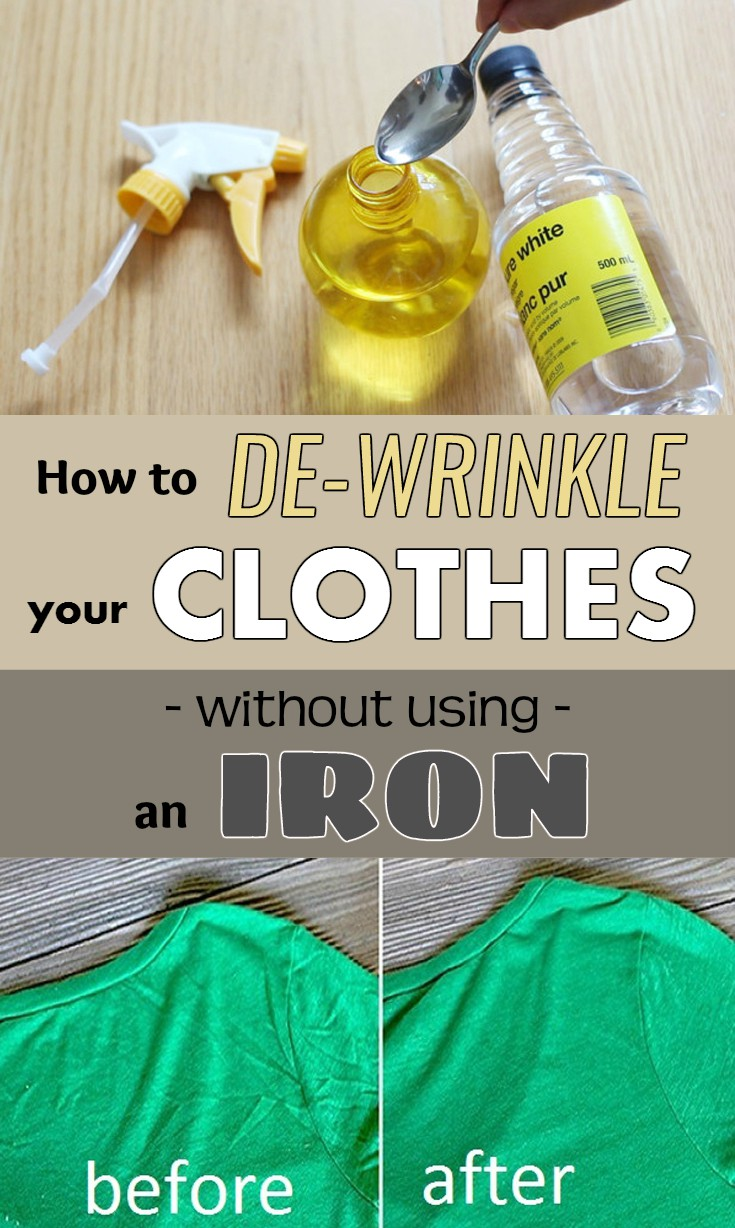 How To De Wrinkle Your Clothes Without Using An Iron