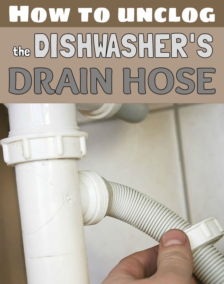 how to unclog dishwasher drain hose | How to unclog the dishwasher's drain hose ...