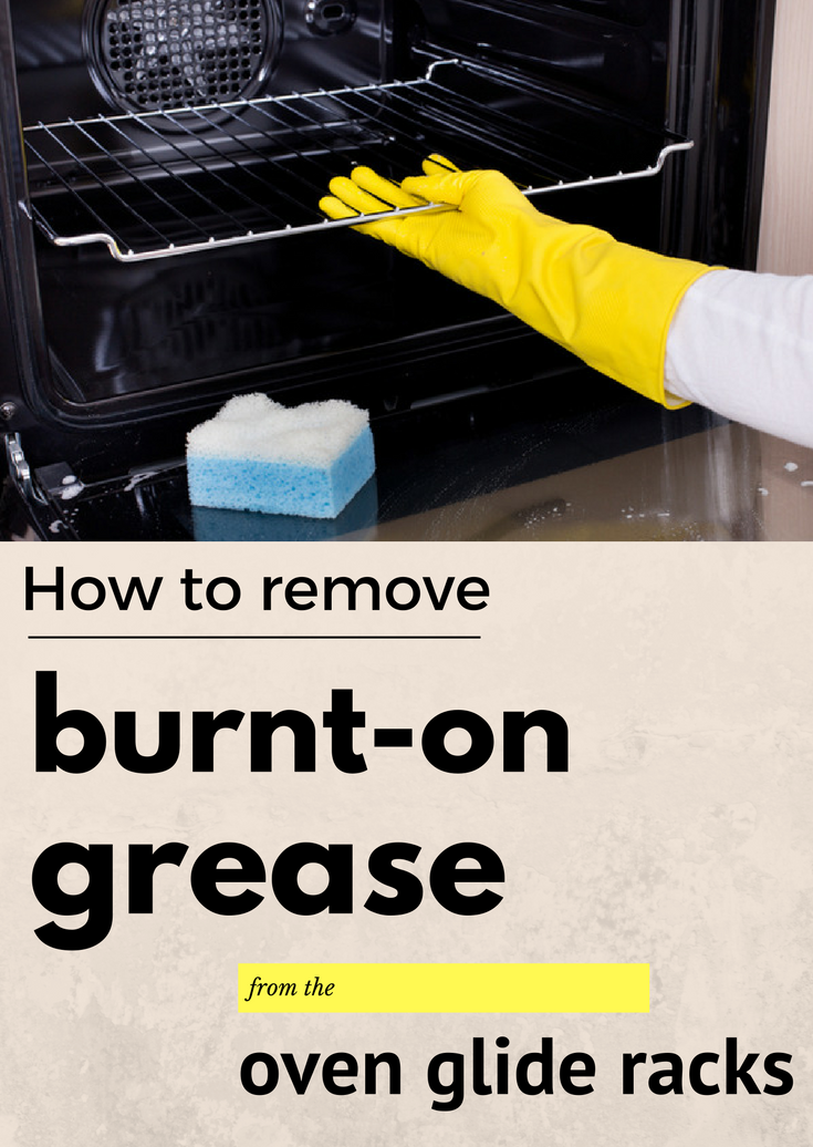 How to remove burnt on grease from the oven glide racks - Clean burnt grease oven pots pans ...
