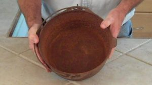 How To Wash, Care And Maintain For Cast-Iron Cookware. Remove Burnt Grease And Rust