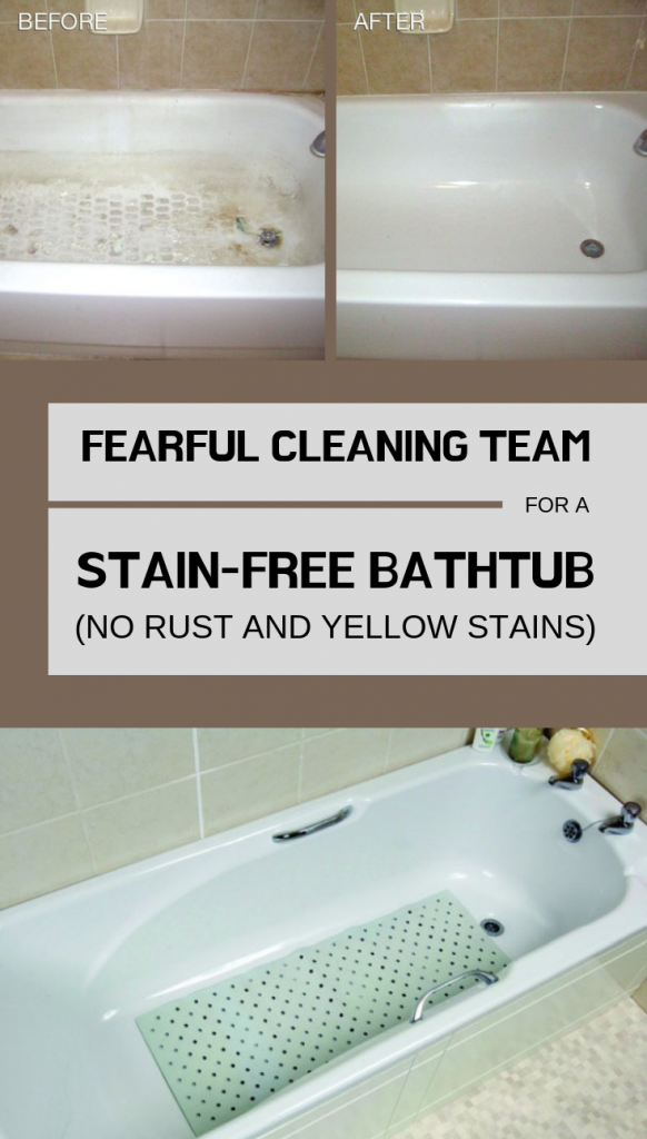 Fearful Cleaning Team For A Stain Free Bathtub No Rust