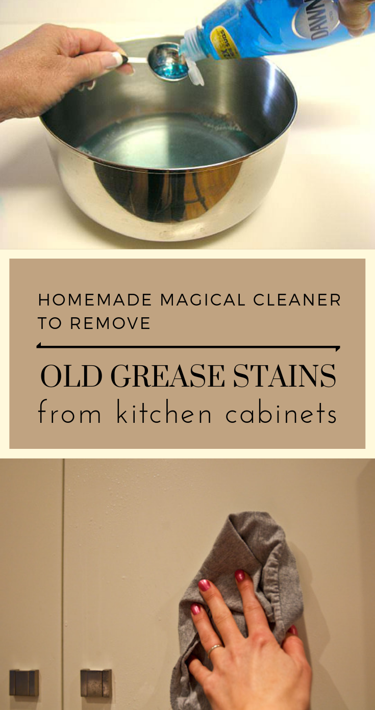 Homemade Magical Cleaner To Remove Old Grease Stains From
