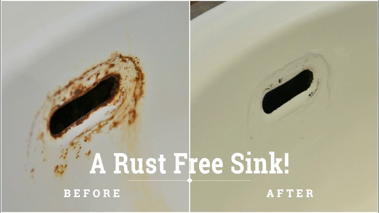 The Perfect Combo To Remove Rust Stains From Ceramic Sink